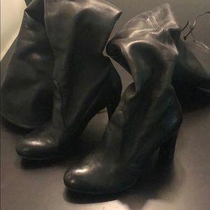 Stuart Weitzman OTK Patent Leather Boots WORN ONCE